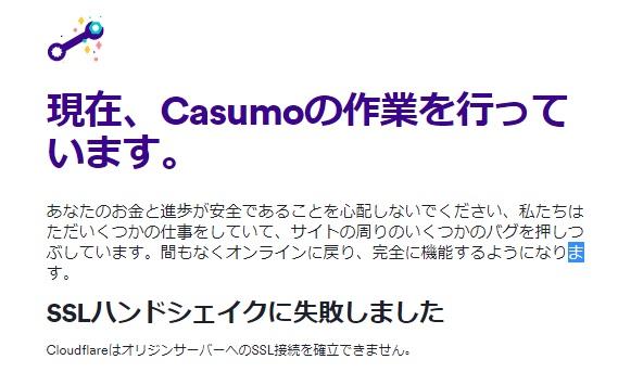 現在、casumoの作業を行っております